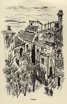 Volterra, Hill Towns of Italy. Illustrated by David Gentleman