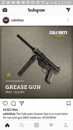 http://ift.tt/2rugRgO Gun image posted by call of duty on instagram.