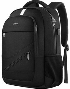 College Laptop Backpack,Durable School Bookbags for Men Women with USB Charging Port, Mancro Business Travel Anti Theft RFID Water Resistant Backpack Fits Inch Laptop and Notebook, Black Computer Backpack, Computer Bags, Hoseok, Macbook, Cute Backpacks, College Backpacks, Girl Backpacks, Best Travel Backpack, Totes