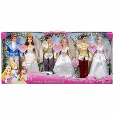 Disney Princess Fairytale Wedding Couple 6 Doll Giftset for sale online Disney Barbie Dolls, Disney Princess Toys, Barbie Toys, Toy Cars For Kids, Toys For Girls, Kids Toys, Rapunzel, Poupées Our Generation, Disney Characters Costumes