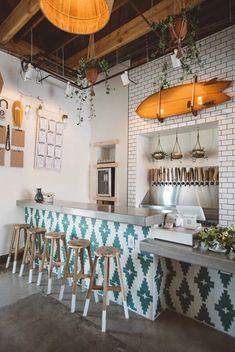12 Beautiful Bohemian Style Kitchen Decoration Ideas ~ My Dream Home Coffee Shop Design, House, Restaurant Decor, Interior, Cafe Interior Design, Kitchen Styling, Cafe Design, Interior Design, Cle Tile