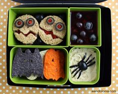 Spooky Halloween Bento Lunch by Wendy Copley, via Flickr