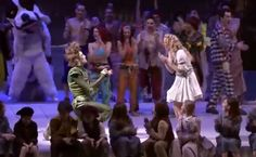The ending we've always wanted for Peter Pan and Wendy Darling – watch this actor propose to his real-life girlfriend onstage during a production of Disney's Peter Pan #proposal #engaged