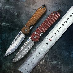 Chris Reeve CR D2 VG1O Wootz Steel Folding Pocket Knife Damascus Tactical Knife Survival Knives Wood & TI Handle 6 Options 1727#
