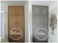 Преображение старого шкафа.
