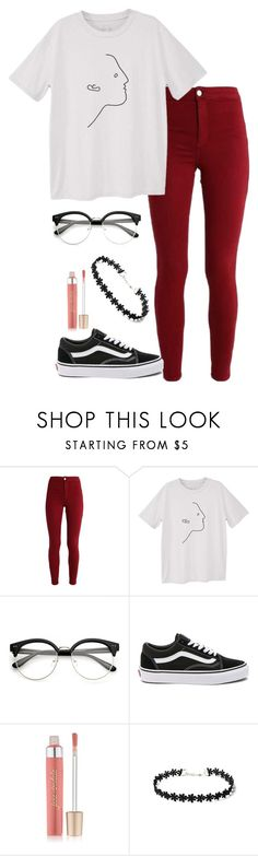 """Untitled #729"" by hey-there-its-kylah ❤ liked on Polyvore featuring MANGO, Vans and Jane Iredale"