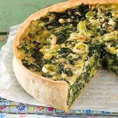 Spinach Recipes, Veggie Recipes, New Recipes, Healthy Recipes, I Love Food, Good Food, Yummy Food, Spinach Tart, Salty Foods