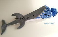 Schultüte 'Hai' - ein Designerstück von buttjes-friends bei DaWanda