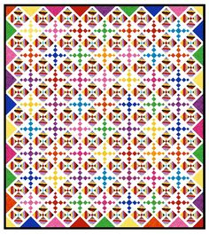 """Even though this is a mock up from the Electric Quilt program, I've found that the end results often look very similar to the layout as planned. I've been surprised, in fact, since I usually use """"stock"""" fabric."""