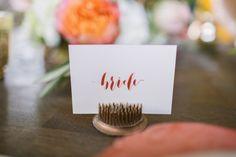 bride place card idea