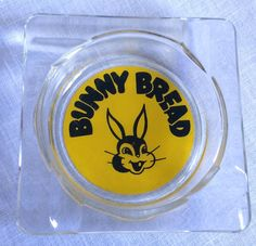 Bunny Bread Glass Ashtray Vintage Advertising 4 In Bunny Bread, Vintage Ashtray, Smoking Accessories, The Good Old Days, Vintage Advertisements, Gifts For Dad, Advertising, Friends, Glass