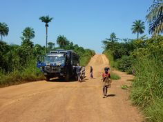 Aminah driving through West Africa a stunningly beautiful region! (Photo from passenger Hilary Wheeler) Overland Truck, Stunningly Beautiful, West Africa, Monster Trucks