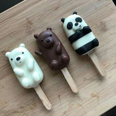 We bare bears 💕 Cute Food, I Love Food, Yummy Food, Glace Fruit, Cute Baking, Tumblr Food, Bear Party, Bear Wallpaper, Cute Desserts