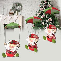 CynKen Santa Claus Snowman In Parachute Christmas Xmas Tree Hanging Home Decor Ornament >>> Check this awesome product by going to the link at the image. (This is an affiliate link) #HashTag2