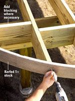 Framing Corners and Curves - Custom Touches - How to Design & Build a Deck. DIY Advice