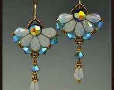 Moldeado tejido de grano de cristal de por beadedartjewelry en Etsy