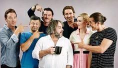 Keith Staskiewicz interviewed the Hobbit cast for Entertainment Weekly last week during San Diego Comic Con.  Peter Jackson alongside Lee Pace (Thranduil), Andy Serkis (Gollum, Second Unit Director), Orlando Bloom (Legolas), Luke Evans (Bard), Bene