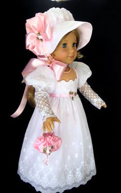 "American Girl Regency Jane Austin 1800's Gown Caroline 18"" Littlecharmers | eBay"