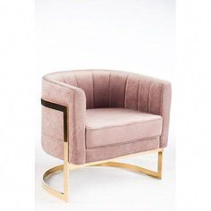 Mica Barrel Chair upholstered in pink velvet fabric is accentuated with a gold metal base and would be ideal for any room in your living spaces. Living Room Modern, Living Room Chairs, Living Room Furniture, Modern Furniture, Living Room Decor, Furniture Design, Bedroom Decor, Living Spaces, Furniture Stores