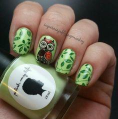 Green UberChic Beauty owl