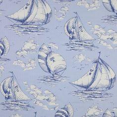 Jane Churchill's Spinnaker #cowtanandtout #textiles #fabrics #nautical
