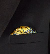 This printed pocket square is perfect for adding a unique touch to a #tuxedo. #weddings #menswearhouse