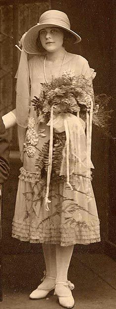 #wedding #gown #1920s... the #bride- how lovely she is and the dress is so much more romantic than the modern wedding dresses