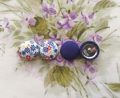 Wholesale Button Earrings / Set of 2 / Fabric Covered / Party Favors / Wholesale Earrings / Handmade Jewellry / Manhattan Hippy / Gifts by ManhattanHippy on Etsy