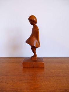 Vintage Arne Basse Danish Modern Teak Girl by HotCoolVintage, $149.95