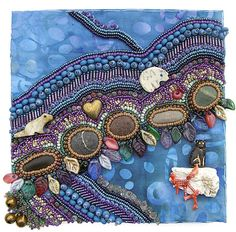 Bead Embroidery for Robert's Box ~ in progress by Robin Atk, via Flickr