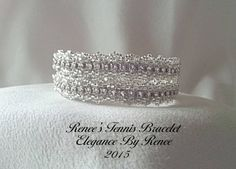 Renee's Tennis Bracelet made with QuadraTiles and Cup Chain by ElegancebyRenee