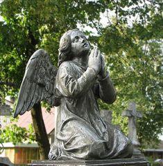 Cemetery angel in Bielsk Podlaski, Poland