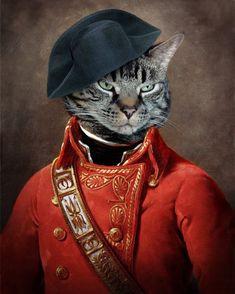 General Cat Anthropomorphic Art