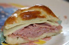 soft pretzel sandwiches... freeze well