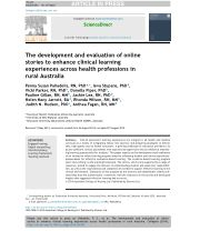 The development and evaluation of online stories to enhance clinical learning experiences across health professions in rural Australia
