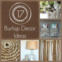17 BURLAP DECOR IDEAS