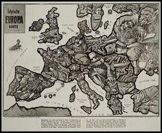 Satirical Maps of Europe - Amazing Data
