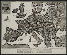 Satirical Maps of Europe - Amazing Data