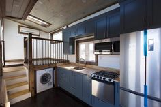 Kitchen w/ Upper Cabinets - Lookout v2 by Tiny House Chattanooga