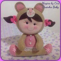 baby felt, baby felt owl, bebê coruja menina em feltro, bebê sapo sapinho em feltro, bebê ursinho em feltro, menina coelho coelhinha feltro, molde bebê em feltro, molde bebê feltro, Molde de feltro Bebê