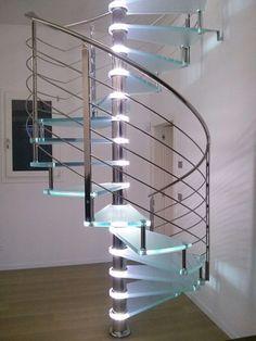 Scala a Chiocciola Reflex Glass Led - Alfa Scale