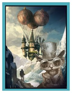"""""""Up and Away!!"""" by dorataya ❤ liked on Polyvore featuring art and steampunk"""