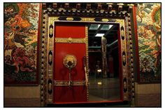 Tibetan Buddhist temple doorway