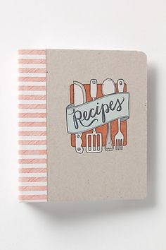 Letterpress Recipe Binder