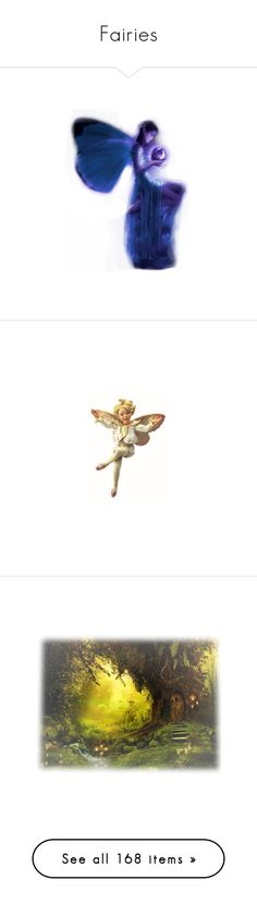 """Fairies"" by kim-mcculley ❤ liked on Polyvore featuring angels, fairies, fantasy, backgrounds, landscape, tubes, nature, scenery, filler and dolls"