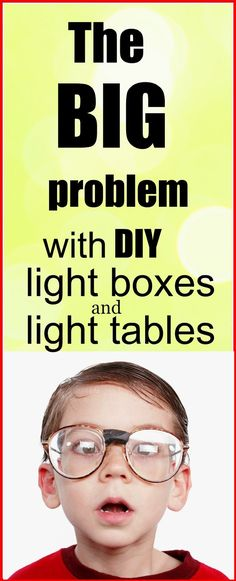 How a poorly made light table or light box can damage your children's eyes from Epic Childhood