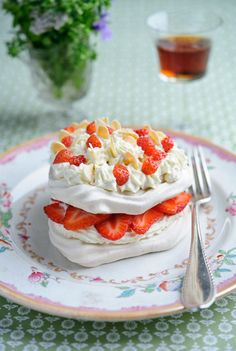 Sweet Eve Strawberry Almond Pavlova recipe