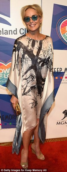 Keep on shining! Sharon Stone and Suzanne Somers made a stylish arrival to Keep Memory Alive's Power Of Love Gala in Las Vegas on Saturday