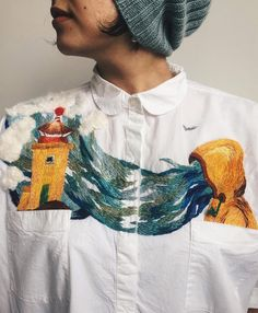 New Embroidered Clothes and Portraits by Lisa Smirnova