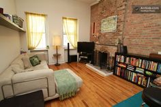 Gorgeous NYC studio loft with exposed brick wall - this looks like my apartment at 112 East 11th Street, Apt. 2C New York, NY 10003...ah the old days, how I miss you!